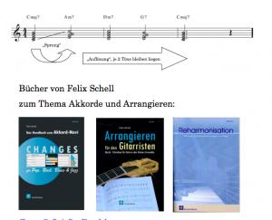 Bücher zum Thema Arrangieren für den Gitarristen